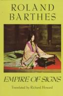 Cover of: L'empire des signes