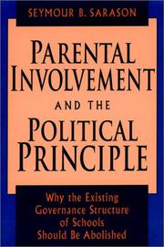 Cover of: Parental involvement and the political principle
