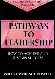 Cover of: Pathways to leadership