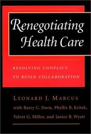 Cover of: Renegotiating health care