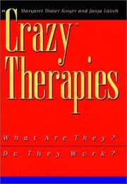 "Cover of: "" Crazy"" therapies"