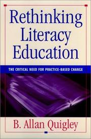 Cover of: Rethinking Literacy Education