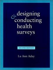 Cover of: Designing and conducting health surveys