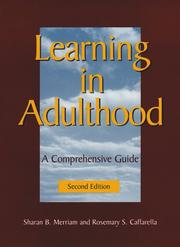 Cover of: Learning in adulthood: a comprehensive guide