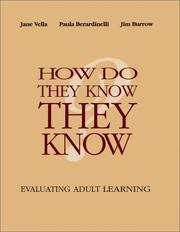 Cover of: How Do They Know They Know | Jane Vella
