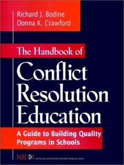 Cover of: The handbook of conflict resolution education