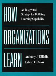 Cover of: How organizations learn
