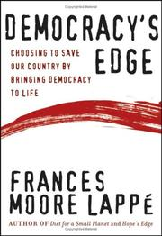 Cover of: Democracy's edge: choosing to save our country by bringing democracy to life