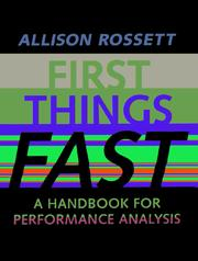 First things fast by Allison Rossett