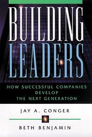 Cover of: Building Leaders | Jay A. Conger