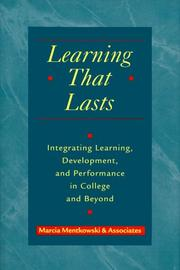 Cover of: Learning that lasts