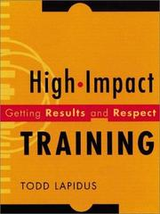 Cover of: High-Impact Training | Todd Lapidus