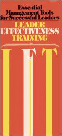 L.E.T., leader effectiveness training by Gordon, Thomas