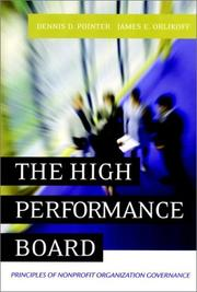Cover of: The High-Performance Board | Dennis D. Pointer