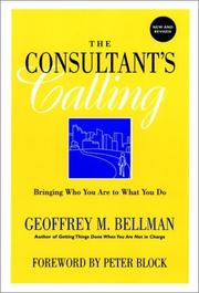 Cover of: The consultant's calling