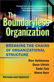 Cover of: The boundaryless organization