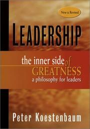 Cover of: Leadership | Peter Koestenbaum