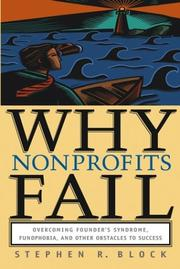 Cover of: Why Nonprofits Fail | Stephen R. Block