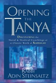 Cover of: Opening the Tanya