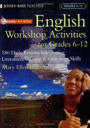 Cover of: Ready-To-Use English Workshop Activities for Grades 6-12: 180 Daily Lessons for Integrating Literature, Writing, and Grammar