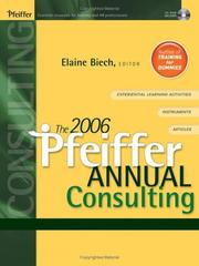 Cover of: The 2006 Pfeiffer Annual | Elaine Biech