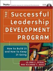 Cover of: The Successful Leadership Development Program | Jo-Ann C. Byrne