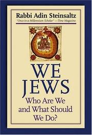 Cover of: We Jews
