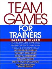 Cover of: Team games for trainers