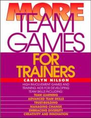 Cover of: More team games for trainers