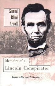 Cover of: Memoirs of a Lincoln conspirator