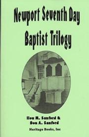 Cover of: Newport Seventh Day Baptist trilogy