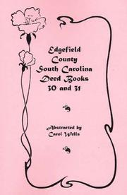 Cover of: Edgefield County, South Carolina