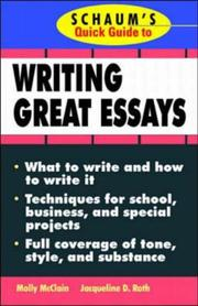 Cover of: Schaum's quick guide to writing great essays