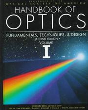 Cover of: Handbook/Optics V1