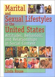 Cover of: Marital and Sexual Lifestyles in the United States | Linda P. Rouse