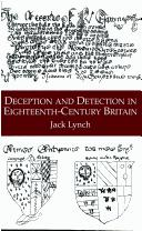Cover of: Deception and detection in eighteenth-century Britain