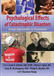 Cover of: Psychological Effects of Catastrophic Disasters |