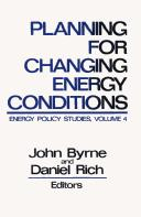 Cover of: Planning for changing energy conditions |