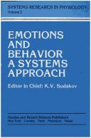 Cover of: Emotion and Behavior