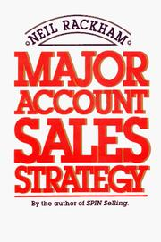 Cover of: Major account sales strategy