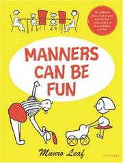 Cover of: Manners can be fun