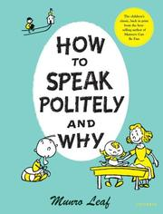 Cover of: How to Speak Politely & Why