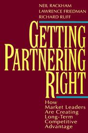 Cover of: Getting partnering right