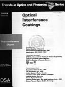 Cover of: Optical interference coatings