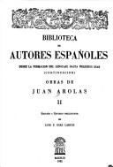 Cover of: Obras de Juan Arolas