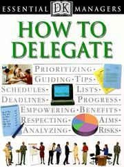 Cover of: How to delegate
