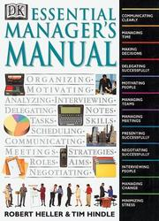 Cover of: Essential manager's manual