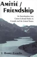 Cover of: Amitie Friendship | J. Barry Gurdin