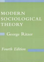 Modern Sociological Theory by George Ritzer