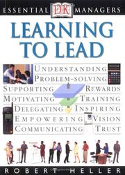 Cover of: Learning to lead